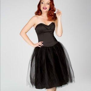 Pinup girl clothing Bernadette black dress medium